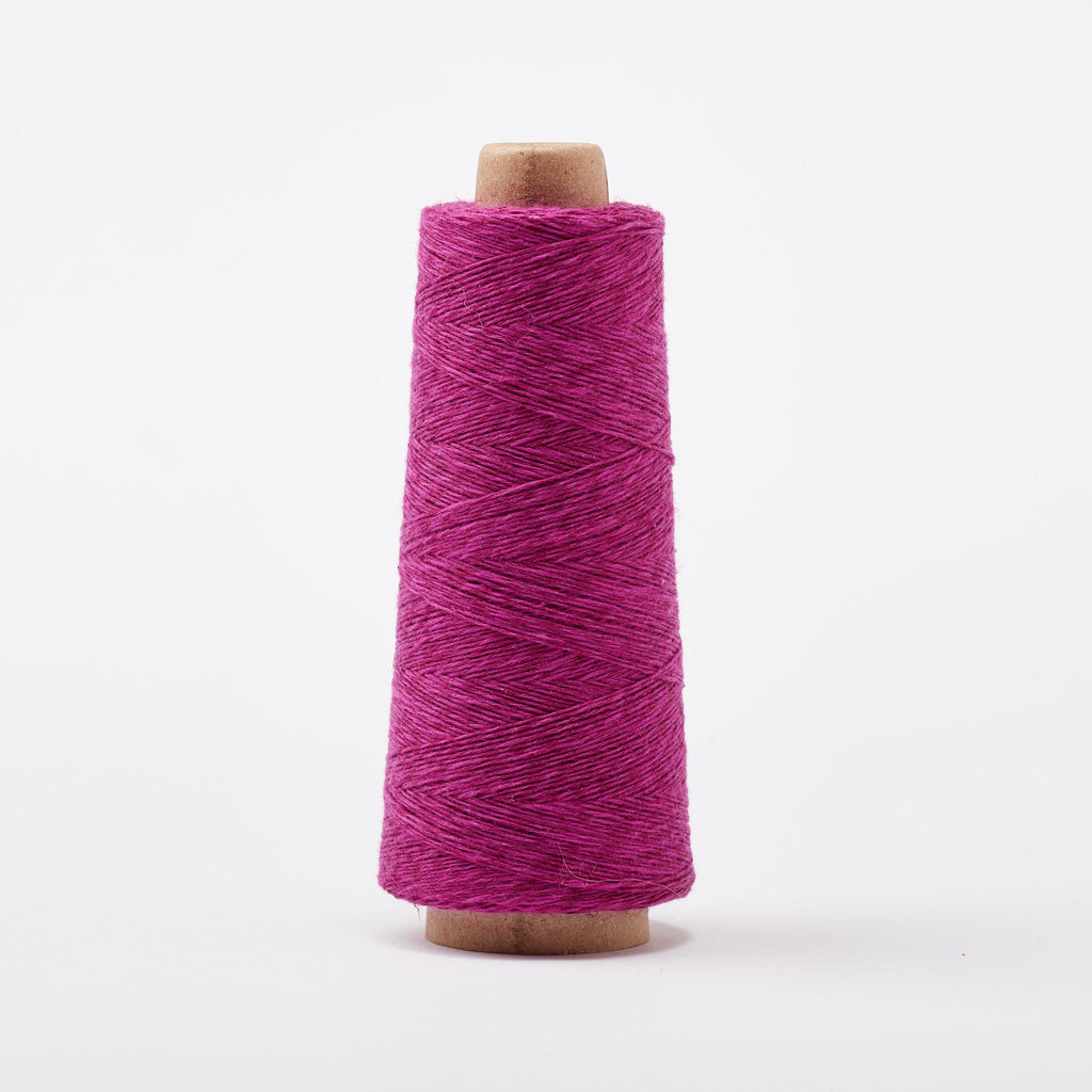 Duet Cotton Linen Weaving Yarn Cerise