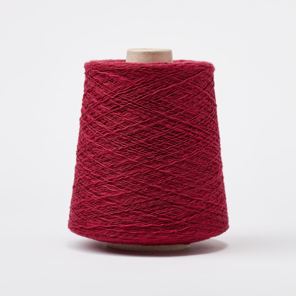 Italian Cotton Linen Weaving Yarn Wine