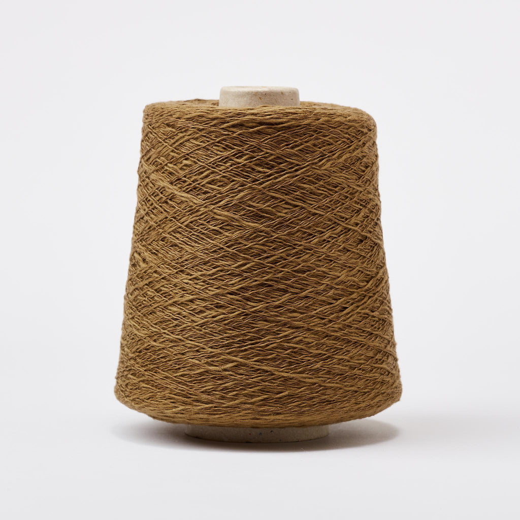 Italian Cotton Linen Weaving Yarn Coffee
