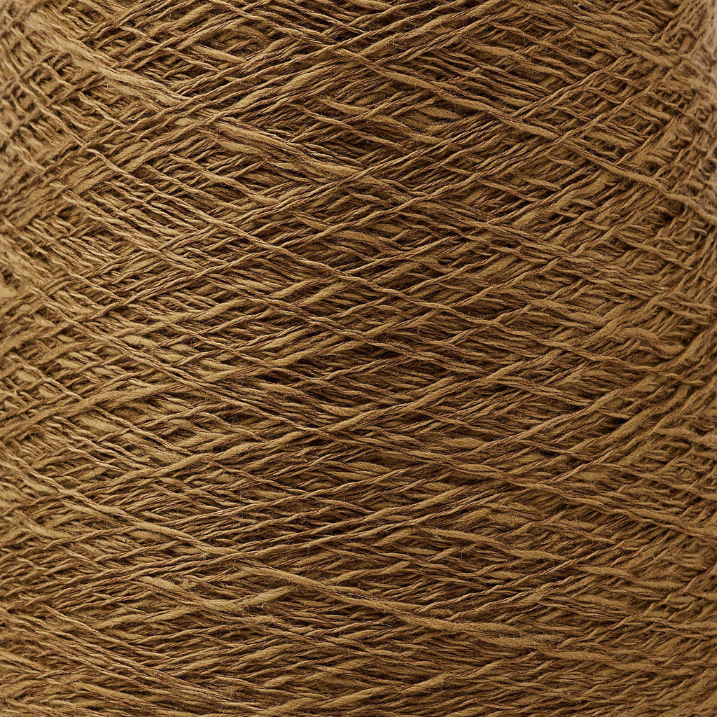 Italian Cotton/Linen Weaving Yarn ~ Coffee, bundle_swatch
