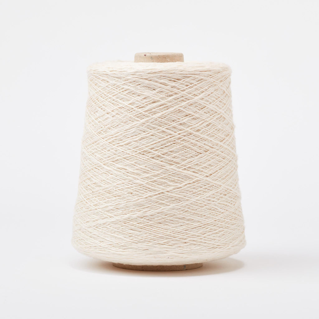 Italian Cotton Linen Weaving Yarn Cream