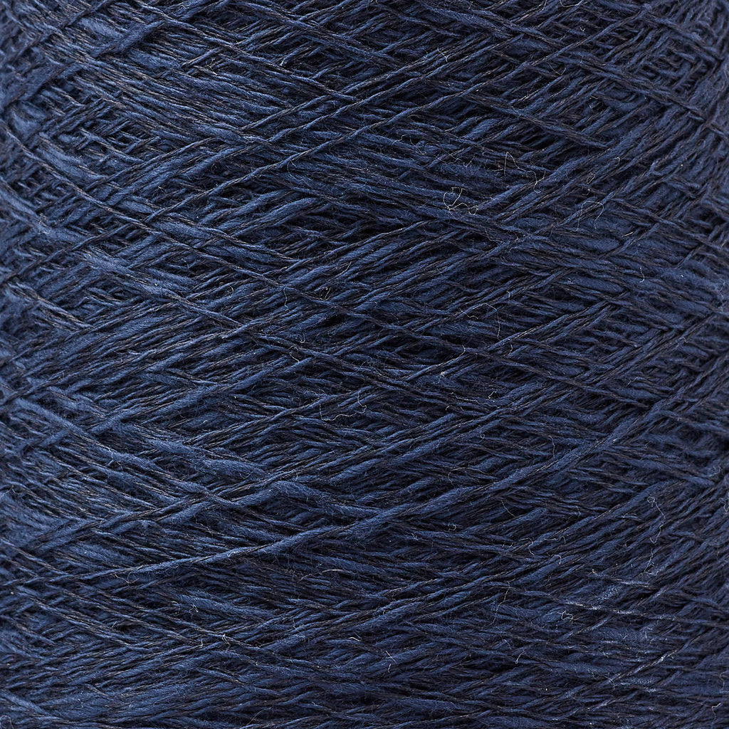 Italian Cotton Linen Weaving Yarn Midnight