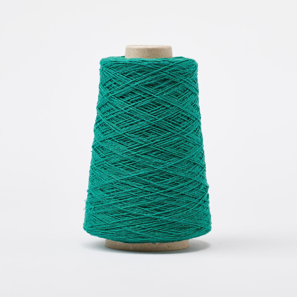 Italian Silk Noil Weaving Yarn ~ Emerald