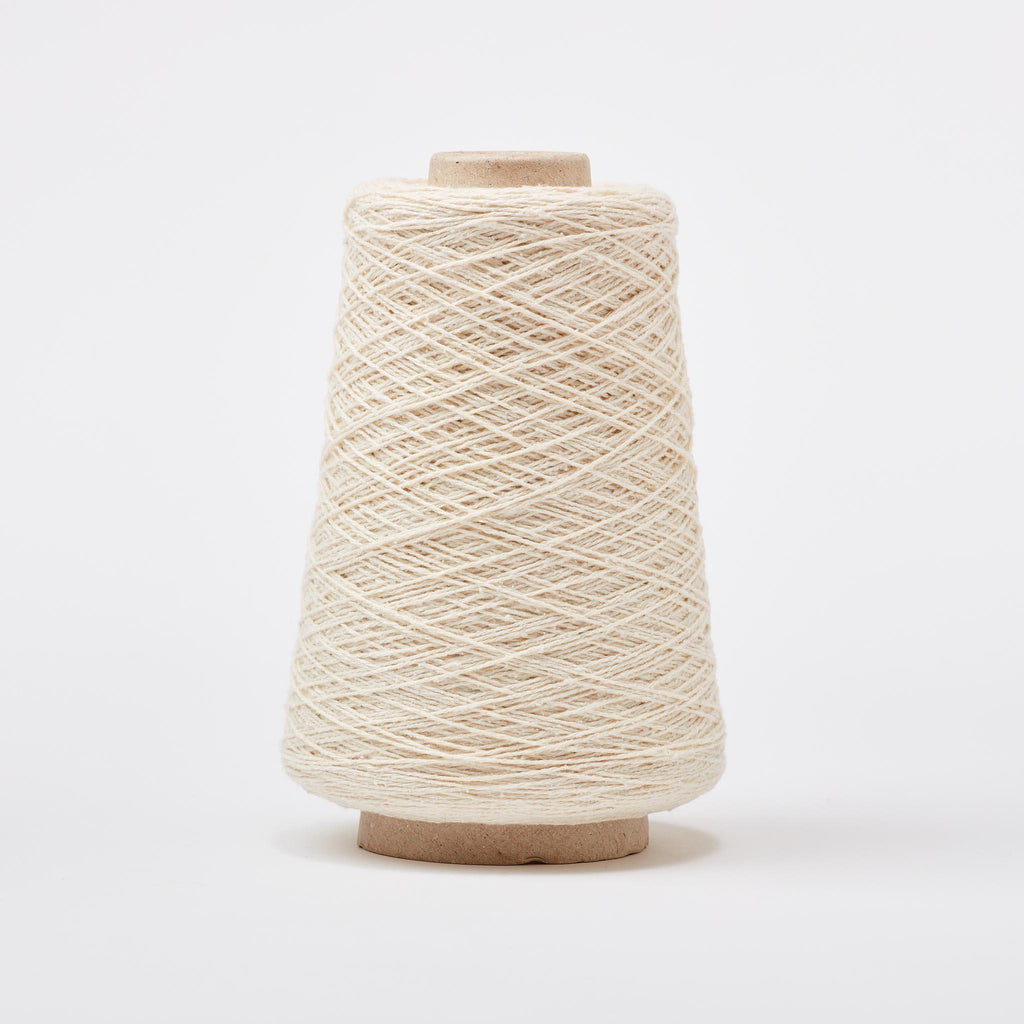 Italian Silk Noil Weaving Yarn White