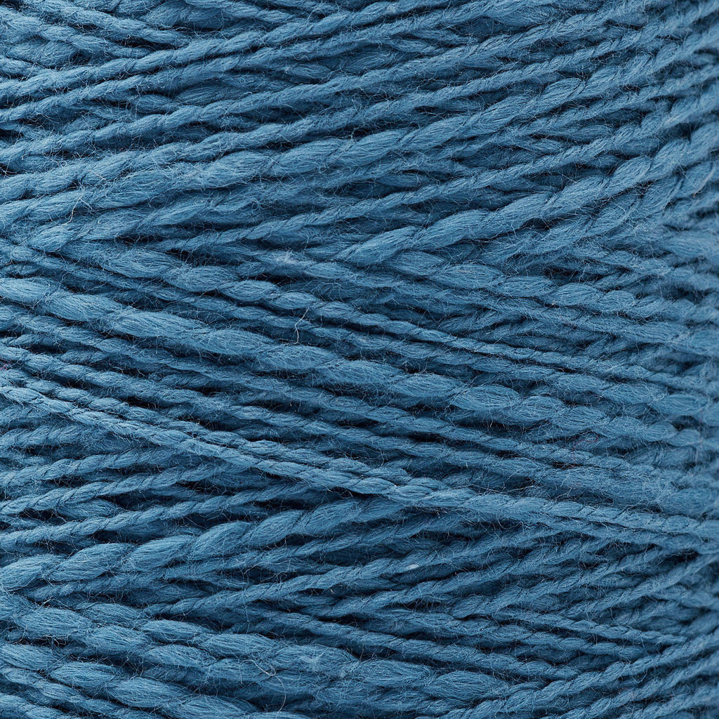 Mallo Cotton Slub Weaving Yarn ~ Denim, bundle_swatch