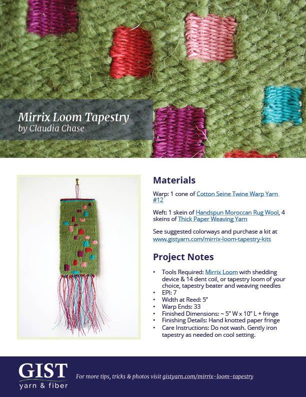 Mirrix Loom Tapestry - Free Pattern PDF Download