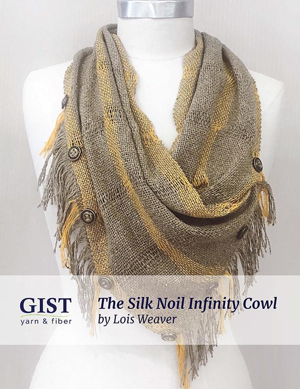 Silk Noil Infinity Cowl Kit ~ Dogwood