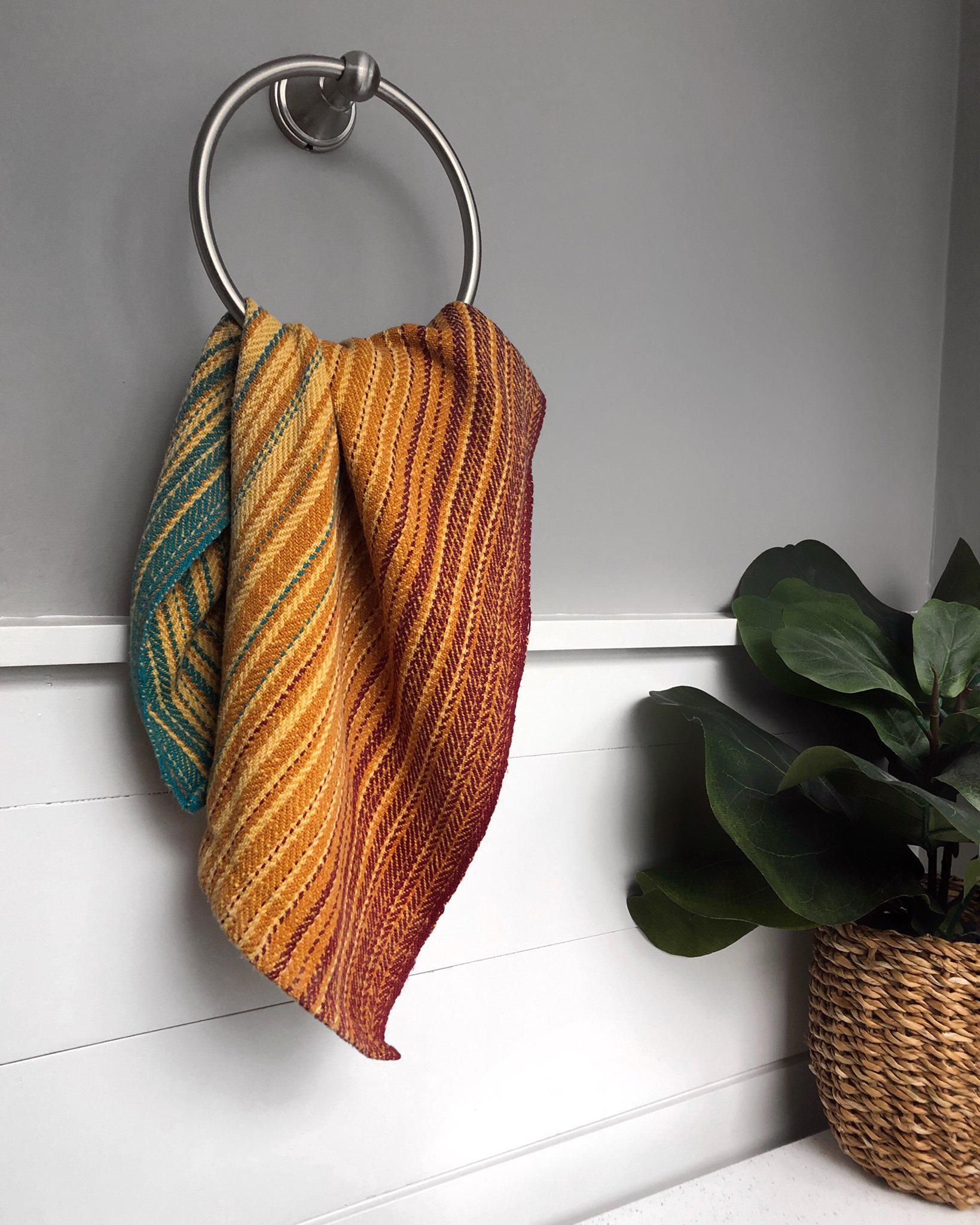 Sunset Towels Weaving Pattern from Handwoven Magazine