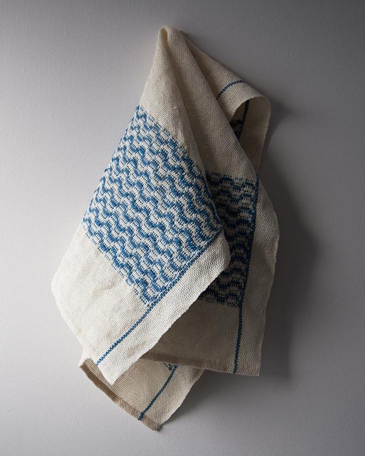 Tidal Towels Overshot Weaving Pattern