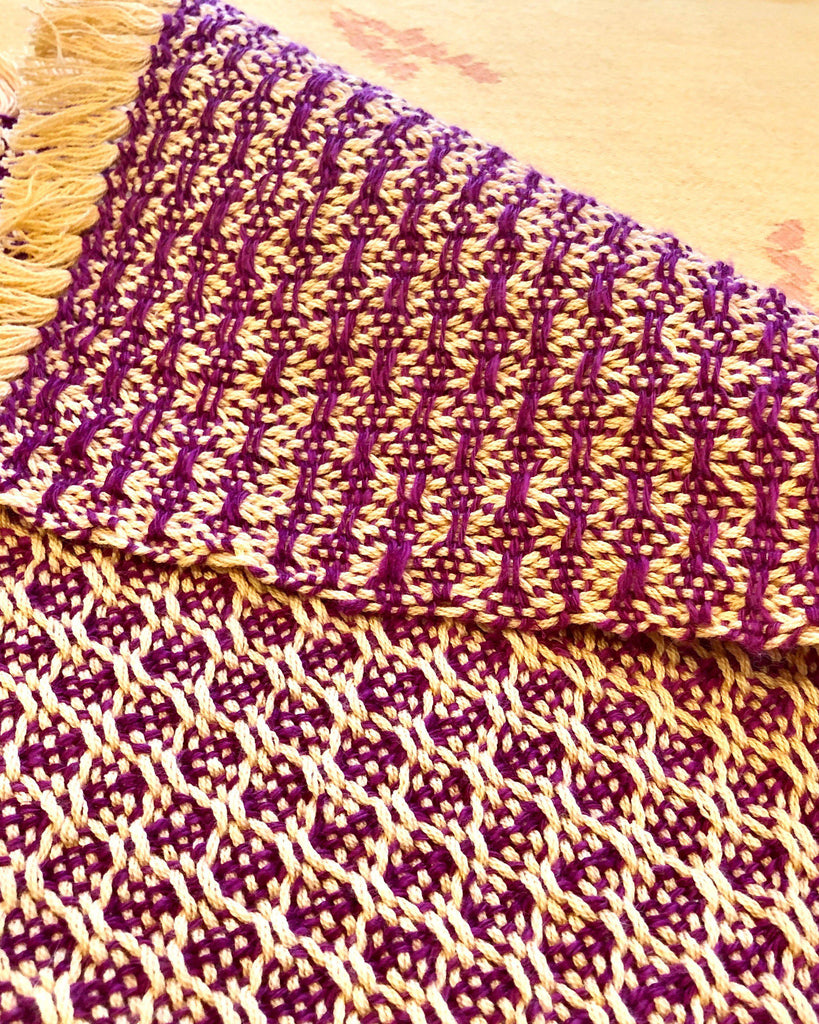Huck Lace Rigid Heddle Placemats Weaving Pattern