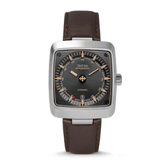 ASTROGRAPHIC AUTOMATIC BROWN LEATHER WATCH