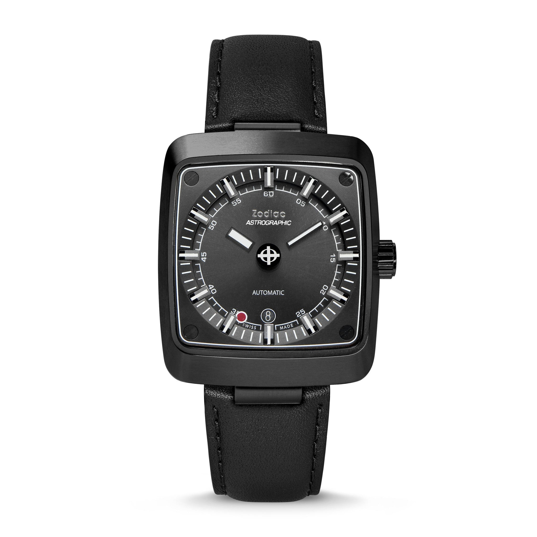 LIMITED EDITION ASTROGRAPHIC AUTOMATIC BLACK LEATHER WATCH