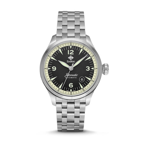 JETOMATIC AUTOMATIC STAINLESS STEEL WATCH