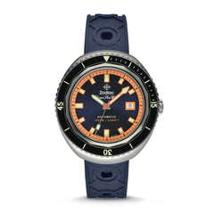 SUPER SEA WOLF 68 SATURATION AUTOMATIC NAVY CAOUTCHOUC RUBBER WATCH
