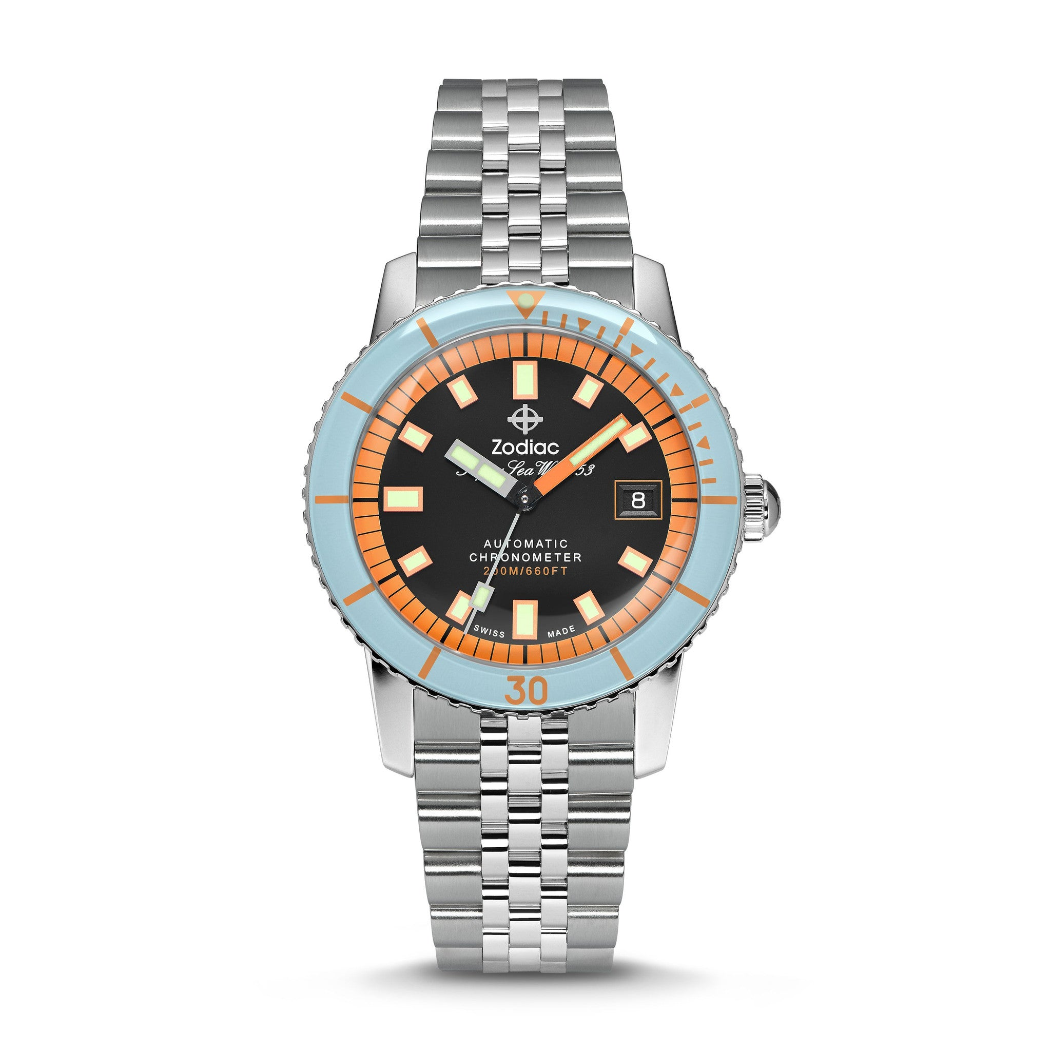 SUPER SEA WOLF AUTOMATIC STAINLESS STEEL WATCH