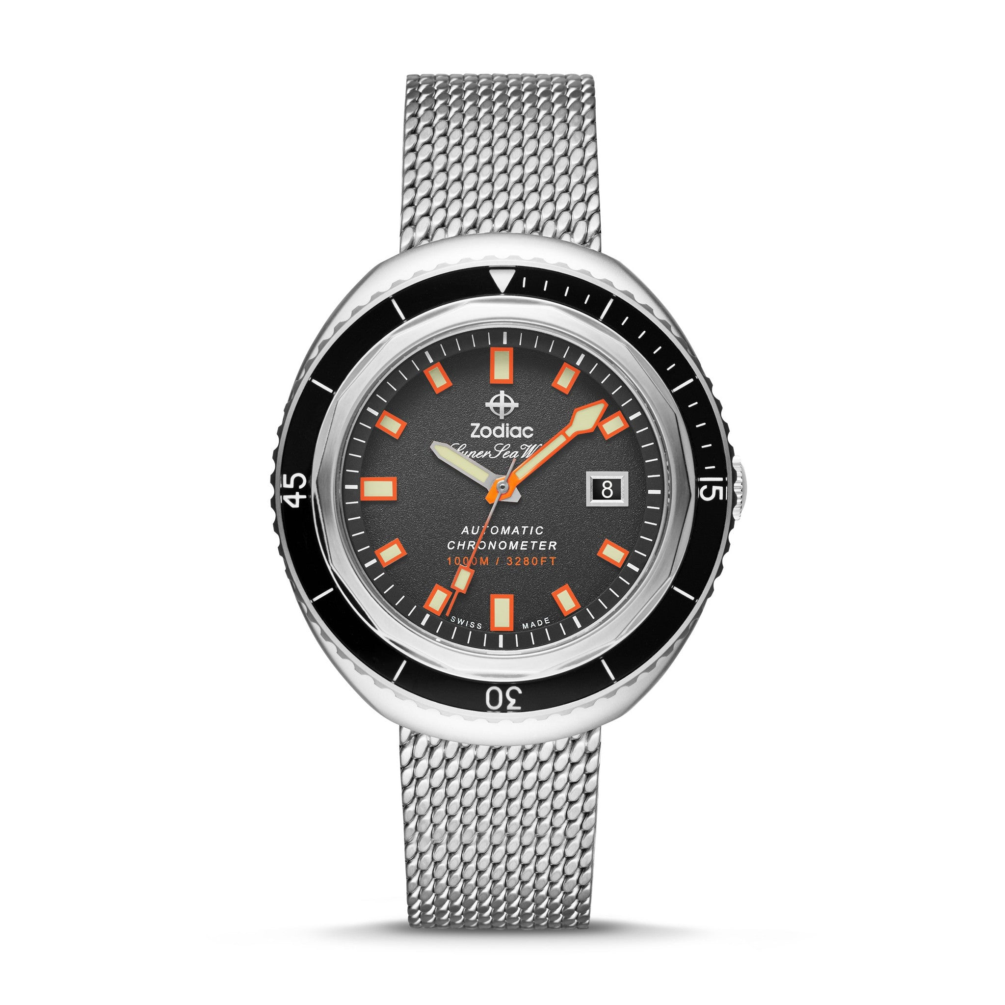 LIMITED EDITION SUPER SEA WOLF 68 AUTOMATIC STAINLESS STEEL WATCH