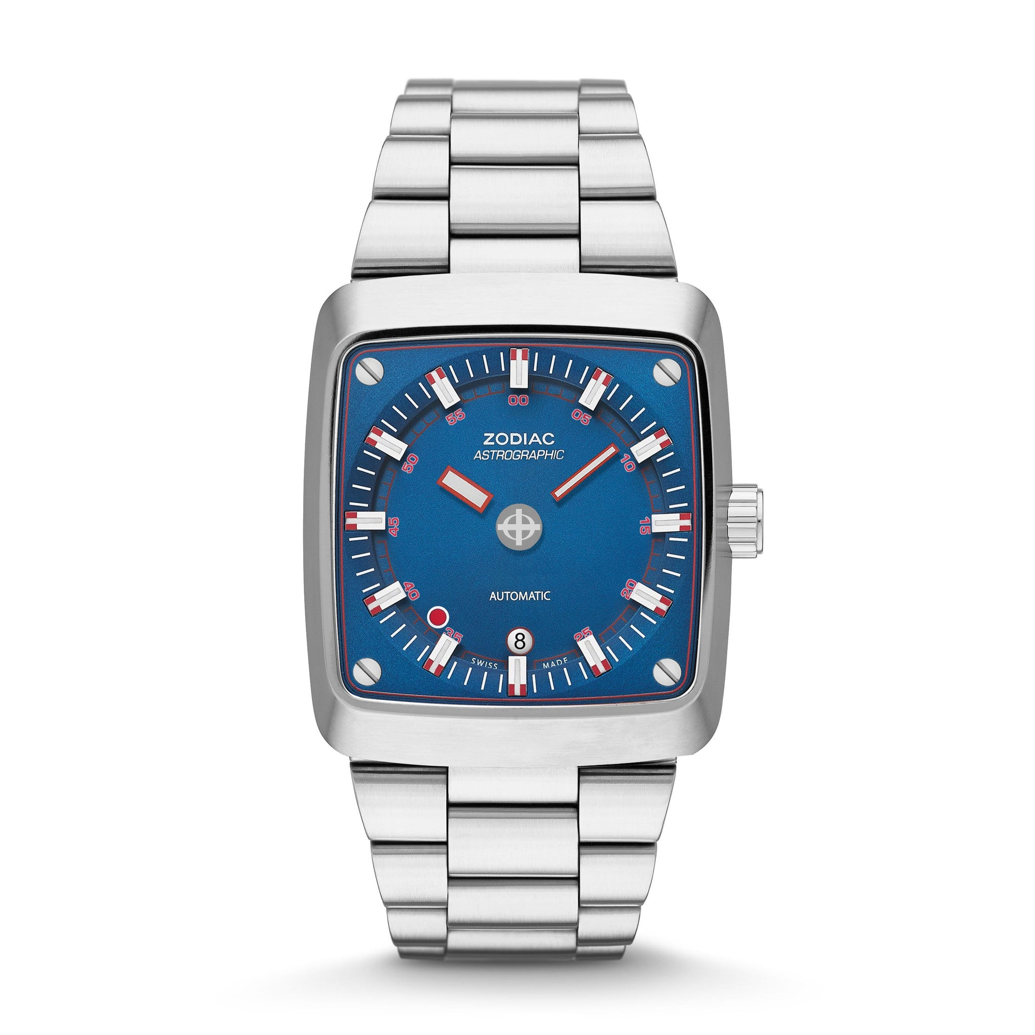 Zodiac Astrographic Watch, High Quality, Automatic Watch, Blue Face