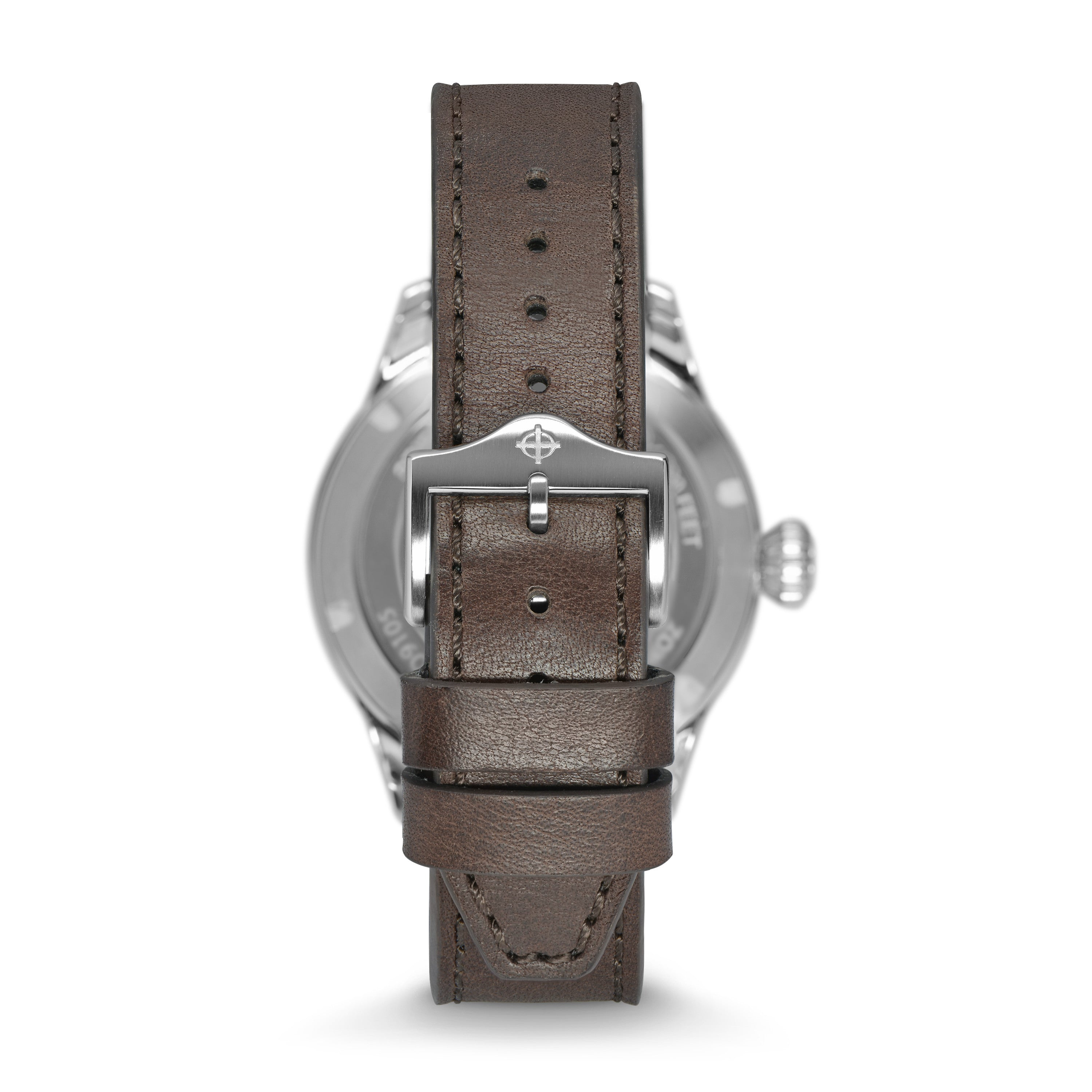 JETOMATIC AUTOMATIC BROWN LEATHER WATCH