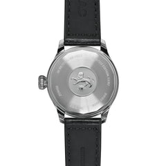 LIMITED EDITION JETOMATIC AUTOMATIC BLACK LEATHER WATCH