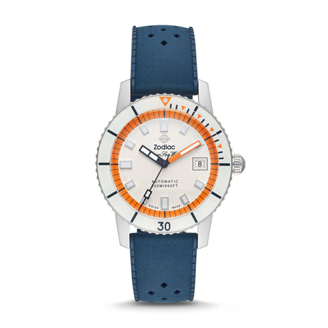 ZODIAC SUPER SEA WOLF AUTOMATIC BLUE RUBBER WATCH