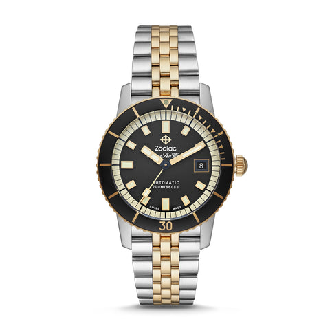 SUPER SEA WOLF AUTOMATIC TWO-TONE STAINLESS STEEL WATCH