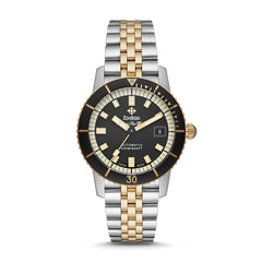 ZODIAC SUPER SEA WOLF AUTOMATIC TWO-TONE STAINLESS STEEL WATCH