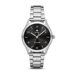 ZODIAC GRANDVILLE THREE-HAND STAINLESS STEEL WATCH