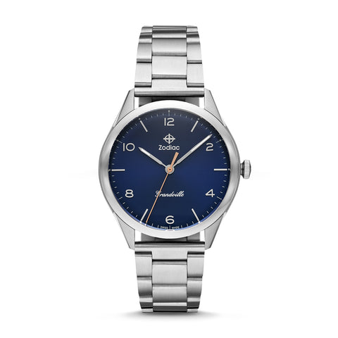 GRANDVILLE QUARTZ STAINLESS STEEL WATCH