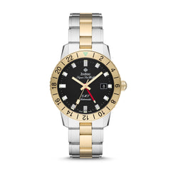 SUPER SEA WOLF GMT AUTOMATIC TWO-TONE STAINLESS STEEL WATCH