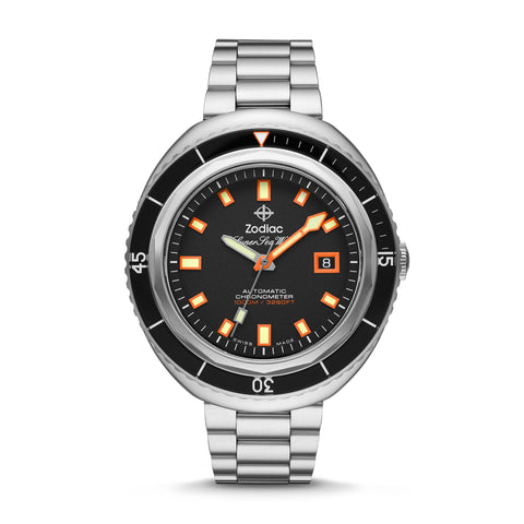 SUPER SEA WOLF 68 SATURATION AUTOMATIC STAINLESS STEEL WATCH