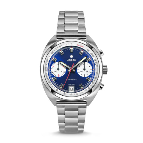ZODIAC GRANDRALLY STAINLESS STEEL WATCH