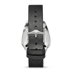 ZODIAC MEN'S LIMITED EDITION OLYMPOS AUTOMATIC BLACK LEATHER WATCH