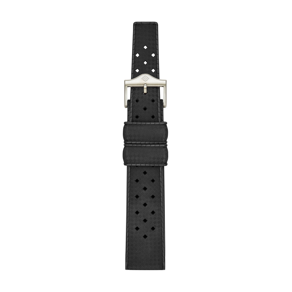 20MM BLACK RUBBER STRAP