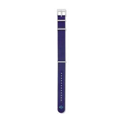 20mm Blue Caoutchouc Rubber Field Strap