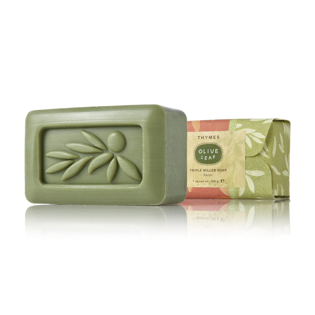 Thymes Olive Leaf Triple Milled Bar Soap