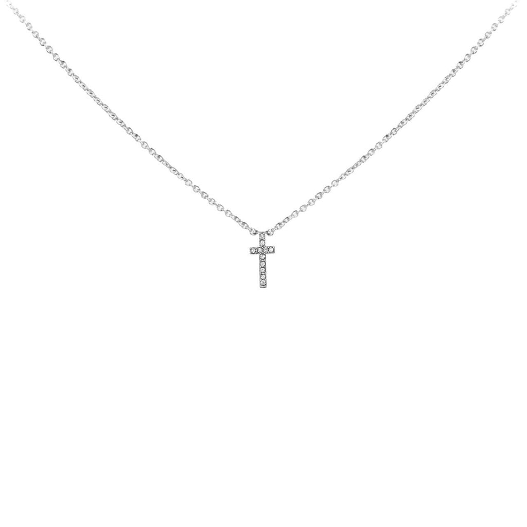 Kitsch Pave Faith Cross Necklace