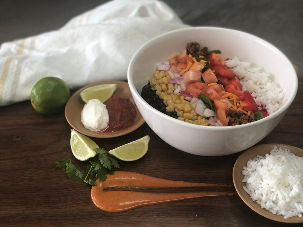 Make your Own Burrito Bowls For 4