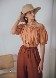 ETNA top in clay - blueanemone