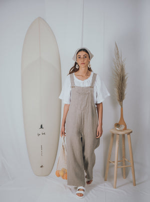 blue anemone sustainable eco slowfasion boho bohemian linen overalls dungarees jumpsuit romper natural rustic