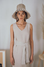 ALMA dress in natural - blueanemone