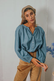 CHELSEA denim blouse - blueanemone