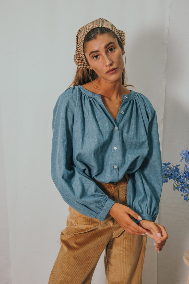 CHELSEA denim blouse