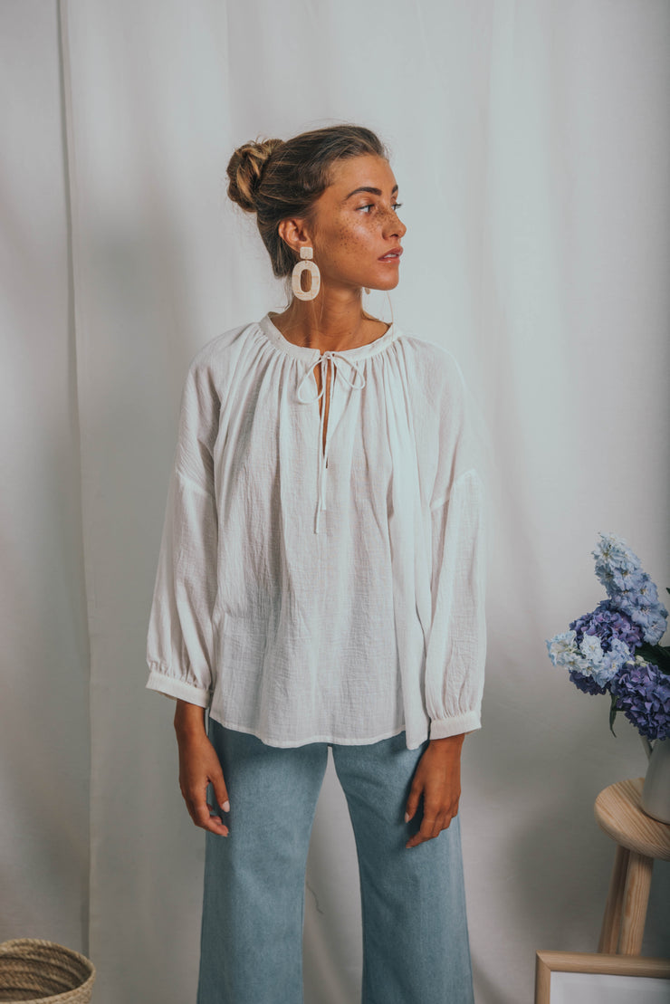 CYCLAMEN blouse white