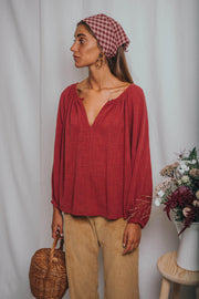 MIA blouse raspberry - blueanemone
