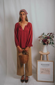 MIA blouse raspberry