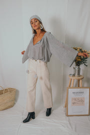 EMMA blouse grey - blueanemone