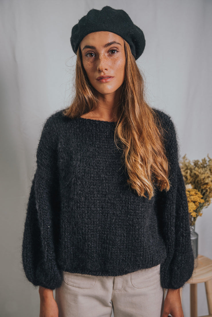 ANEMONA sweater black - blueanemone