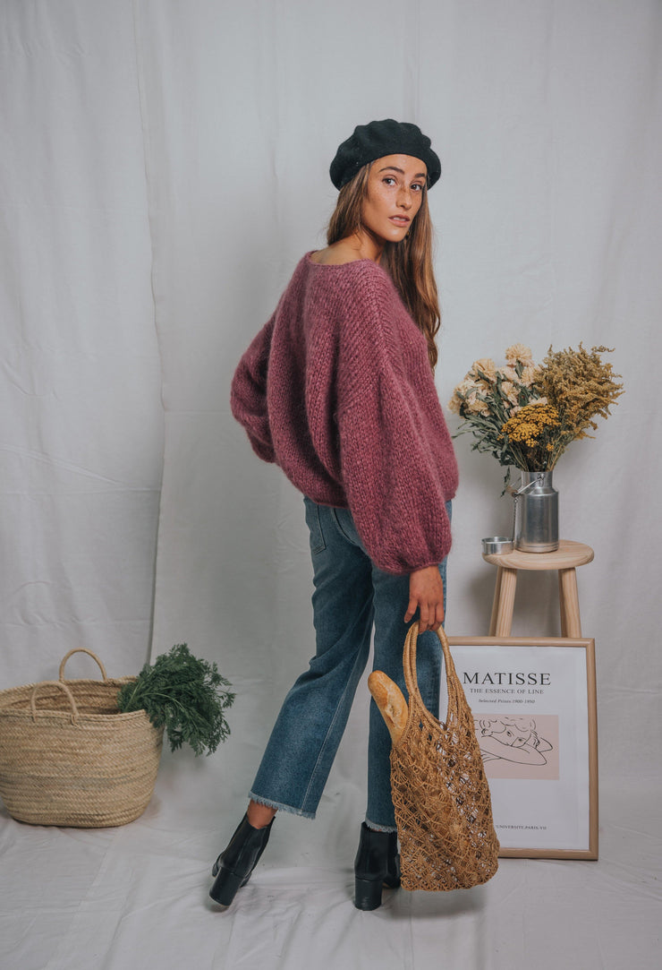 ANEMONA sweater dark mauve - blueanemone