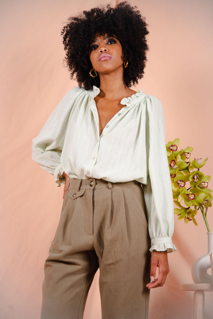HEATHER blouse in pistachio