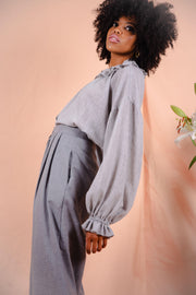 AUGUSTINE blouse in light grey